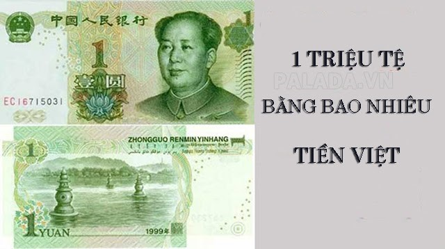 1 triệu tệ bằng bao nhiêu tiền việt