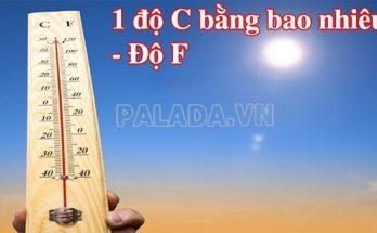 1 độ f bằng bao nhiêu độ c