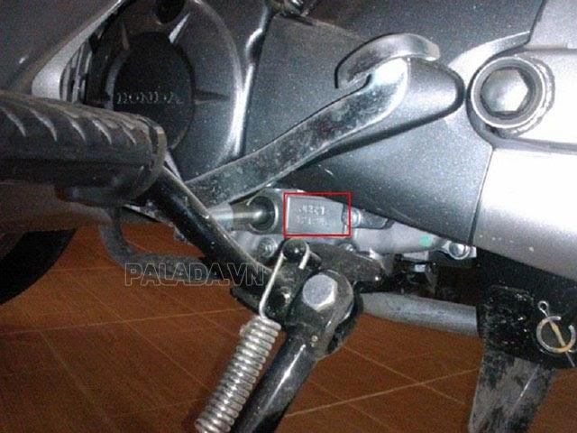 Vị trí số khung xe Airblade