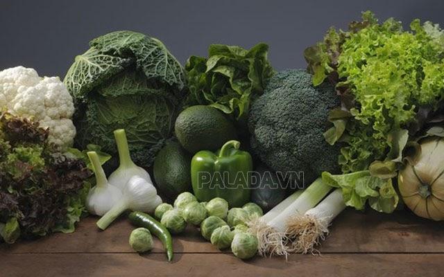 Nên ăn nhiều loại rau củ màu xanh