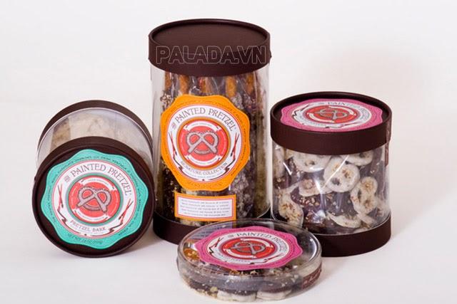 Painted Pretzel - công ty sản xuất bánh kẹo của Mỹ có logo là chiếc bánh Pretzel