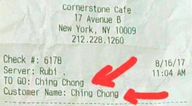 Ching chong được dùng để chỉ người Trung Quốc