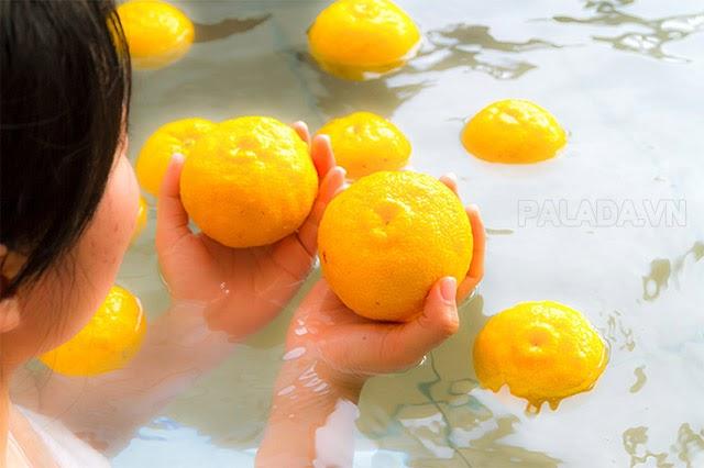 Phong tục tắm Yuzu của người Nhật