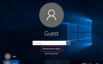 Password hint là gợi ý mật khẩu