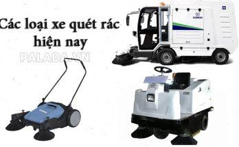 Các loại xe quét rác phổ biến hiện nay