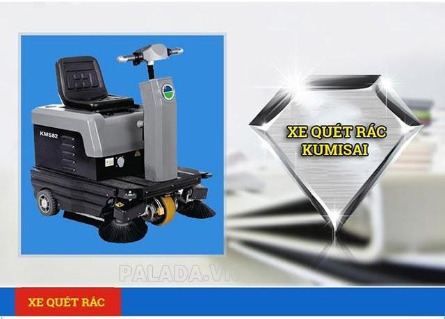 Xe quét rác Kumisai sở hữu nhiều ưu điểm nổi bật